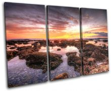 beautiful Shore Sunset Seascape - 13-0576(00B)-TR32-LO